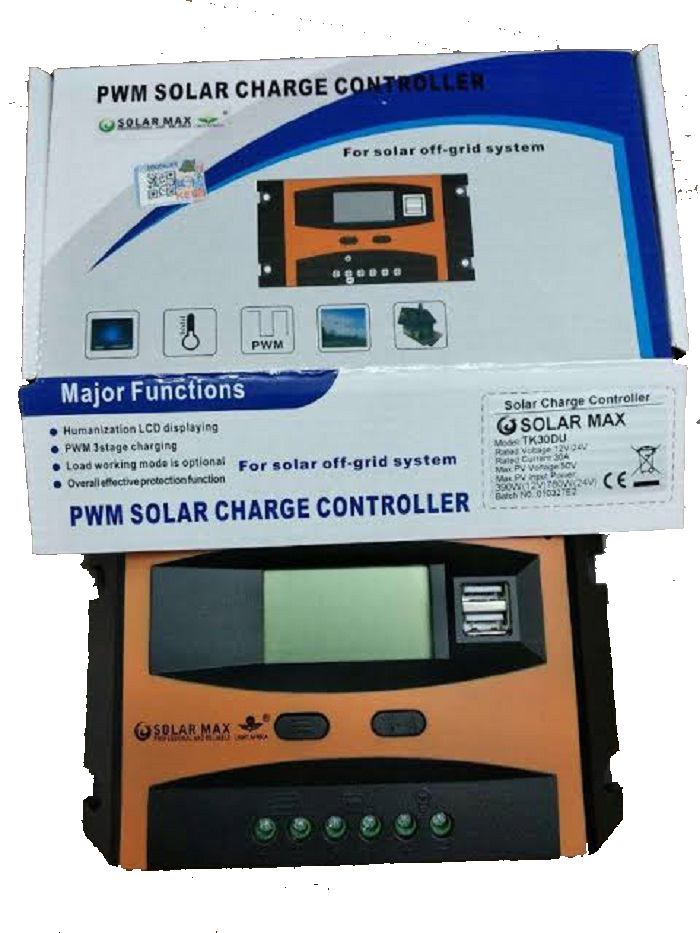 Solarmax Tk Series 10a Charge Controller 12v 24v Auto