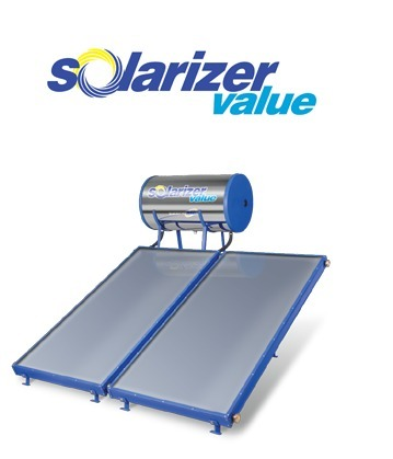 solarizer flat plate 200 Liters solar water heater system